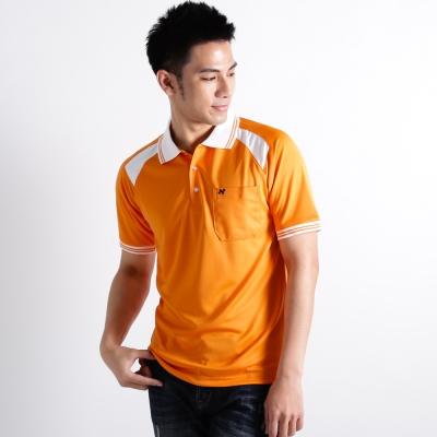 【遊遍天下】男款抗UV吸濕排汗機能POLO衫NS 005 桔/白
