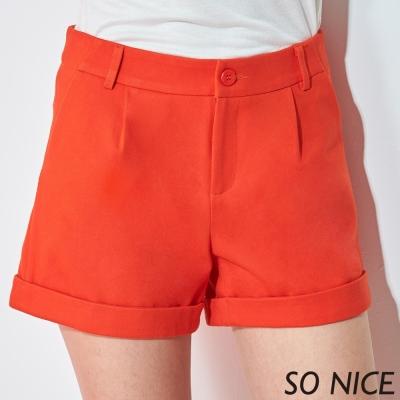 SO NICE都會簡約錦綿短褲
