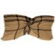 BURBERRY 黑格紋圍巾(駝色/20%MERINO WOOL) product thumbnail 1