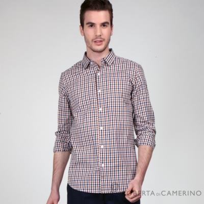 ROBERTA諾貝達 棕藍無限條紋長袖襯衫