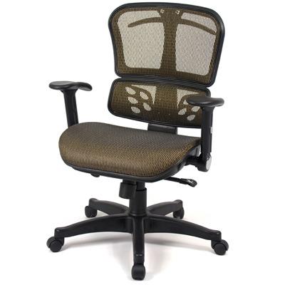 【aaronation】愛倫國度 - T型扶手辦公電腦椅(LD952-金)