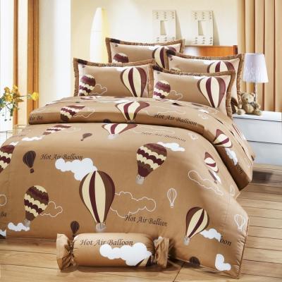 艾莉絲-貝倫 愛戀熱氣球 100%純棉 雙人特大鋪棉兩用被床包四件組