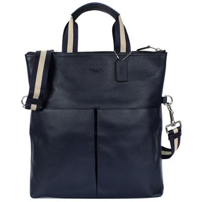 08fc3a52db0c 男包coach 午夜藍全皮正面雙口袋手提斜背長版的價格- EZprice比價網