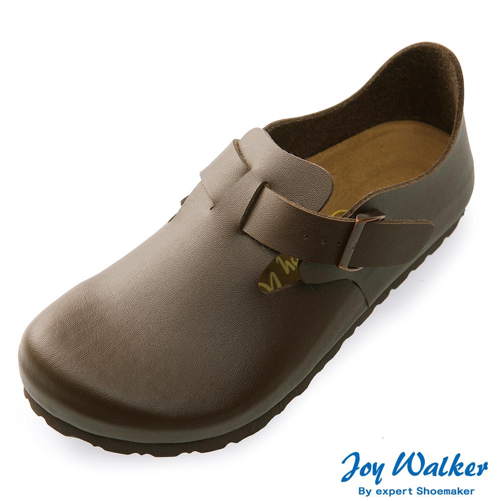 Joy Walker 簡約扣帶休閒包鞋*深咖啡