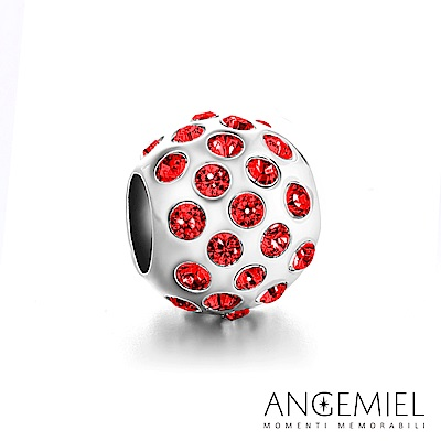 Angemiel安婕米 925純銀 固定珠 晶耀(紅)