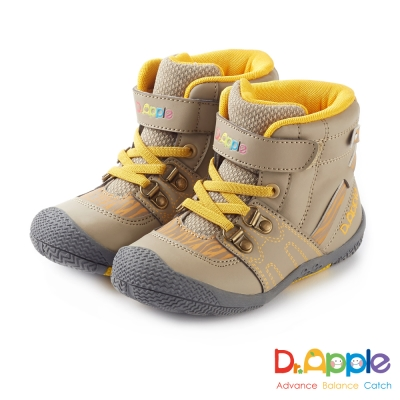 Dr. Apple 機能童鞋 斑馬紋帥氣大人風短筒童靴 卡其