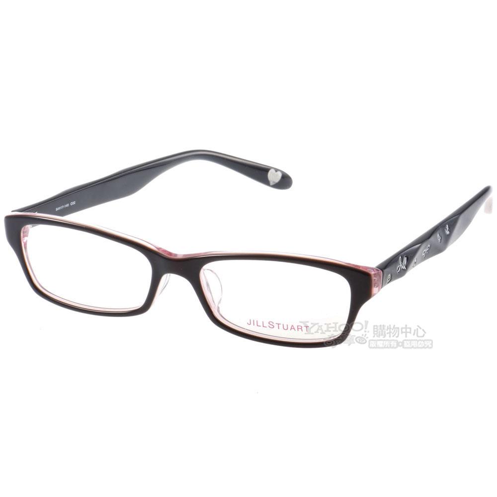 JILL STUART眼鏡 可愛元素/黑-粉色#JS7008 C02