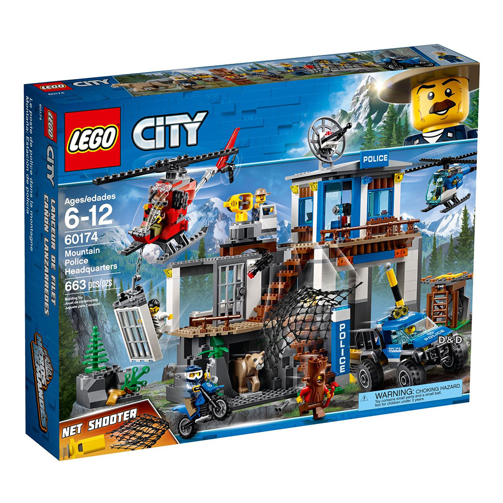樂高LEGO城市系列 - LT60174 山區警察總部