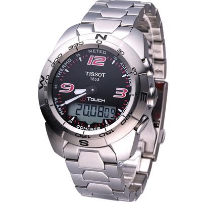 TISSOT T-Touch Expert專業級觸控感應腕錶-黑/44mm