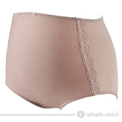 【ohoh-mini 孕婦裝】波挺UP‧斜紋彈力高腰內褲(可可)
