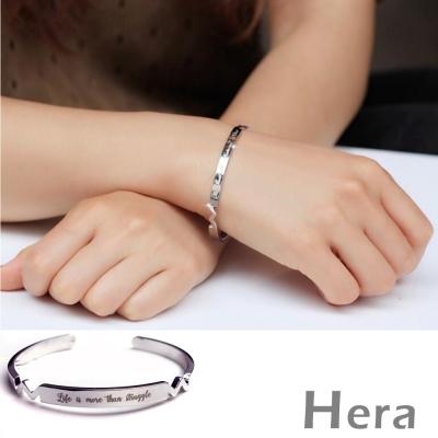 Hera 赫拉 歐美風英文字母開口手環/手鐲-二色