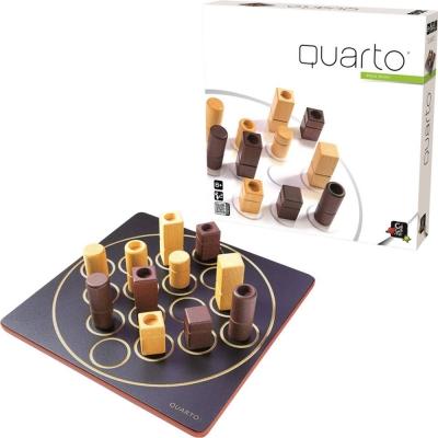法國經典桌遊 GIGAMIC  四連戰迷你版 QUARTO MINI
