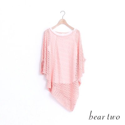 beartwo-兩件式鏤空編織造型上衣-二色