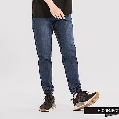 H:CONNECT 韓國品牌 男裝 - 抽繩縮口牛仔褲-藍