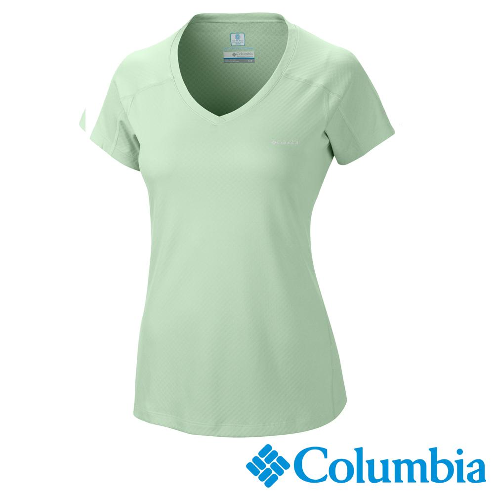 Columbia 哥倫比亞 女款-防曬30涼感快排短袖上衣薄荷綠UAR69140MT