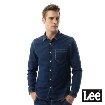 Lee Jade Fusion冰精玉石牛仔長袖襯袖-男款-深藍色
