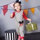 Disney baby 米奇系列郊遊趣連身褲 (共2色)