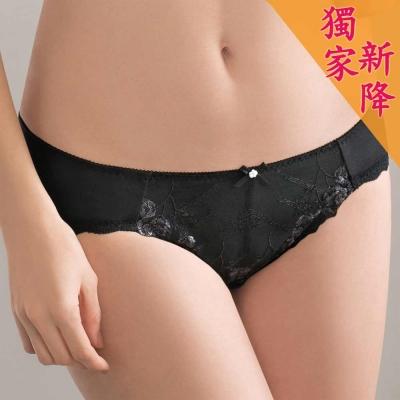 華歌爾 Wire Free Bra系列 M-LL 中低腰三角褲(暗夜黑)