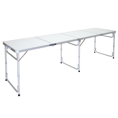 LIFECODE-超長240cm四折箱型鋁合金折疊桌