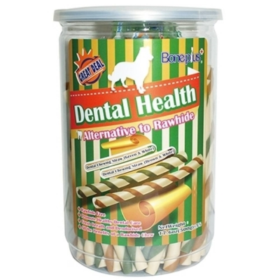 Bone Plus 高鈣雙色潔牙軟笛酥S號 500g《桶裝》