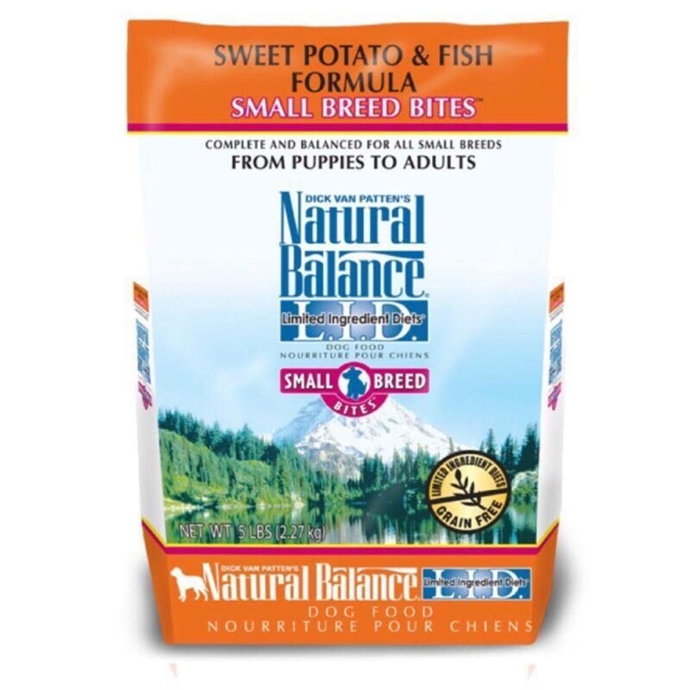 Natural Balance 低敏無穀地瓜鮭魚全犬配方 小顆粒 4.5磅