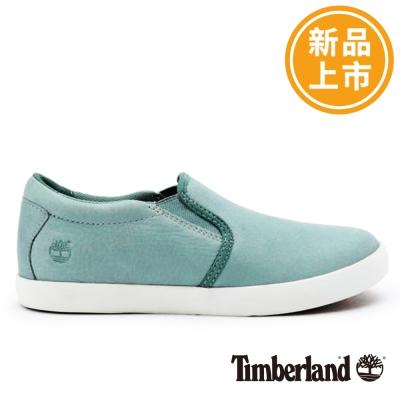 Timberland-女款淡藍色面皮革淺口便鞋