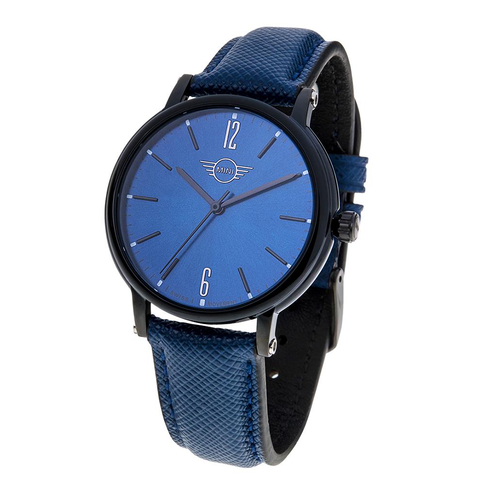 MINI Swiss Watches 英式風格 大三針休閒錶-藍/38.5mm