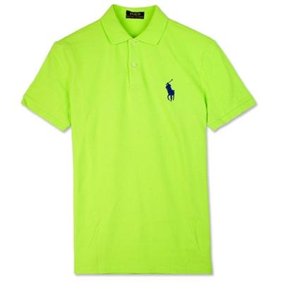 Ralph Lauren 中馬素面POLO衫(青蘋果綠)