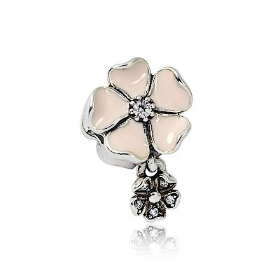 Pandora 潘朵拉 詩花綻放鑲鋯 純銀墜飾 串珠