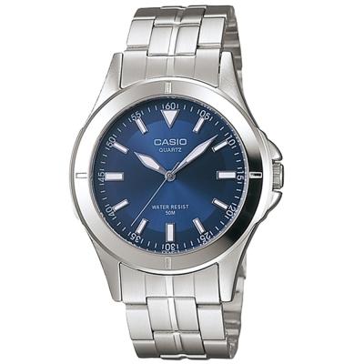 CASIO 都會城市新風格指針錶(MTP-1214A-2A)-藍/39.5mm