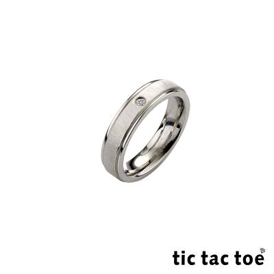 tic tac toe 真情白鋼女戒指