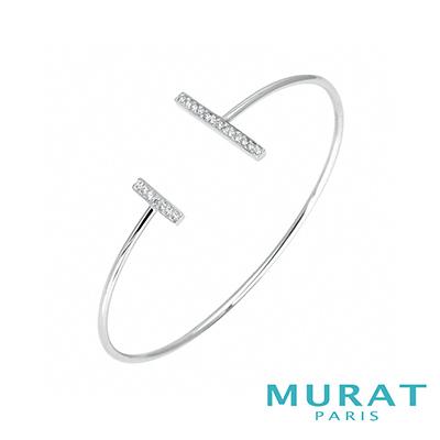 MURAT Paris米哈巴黎 極簡雙排鑽手環