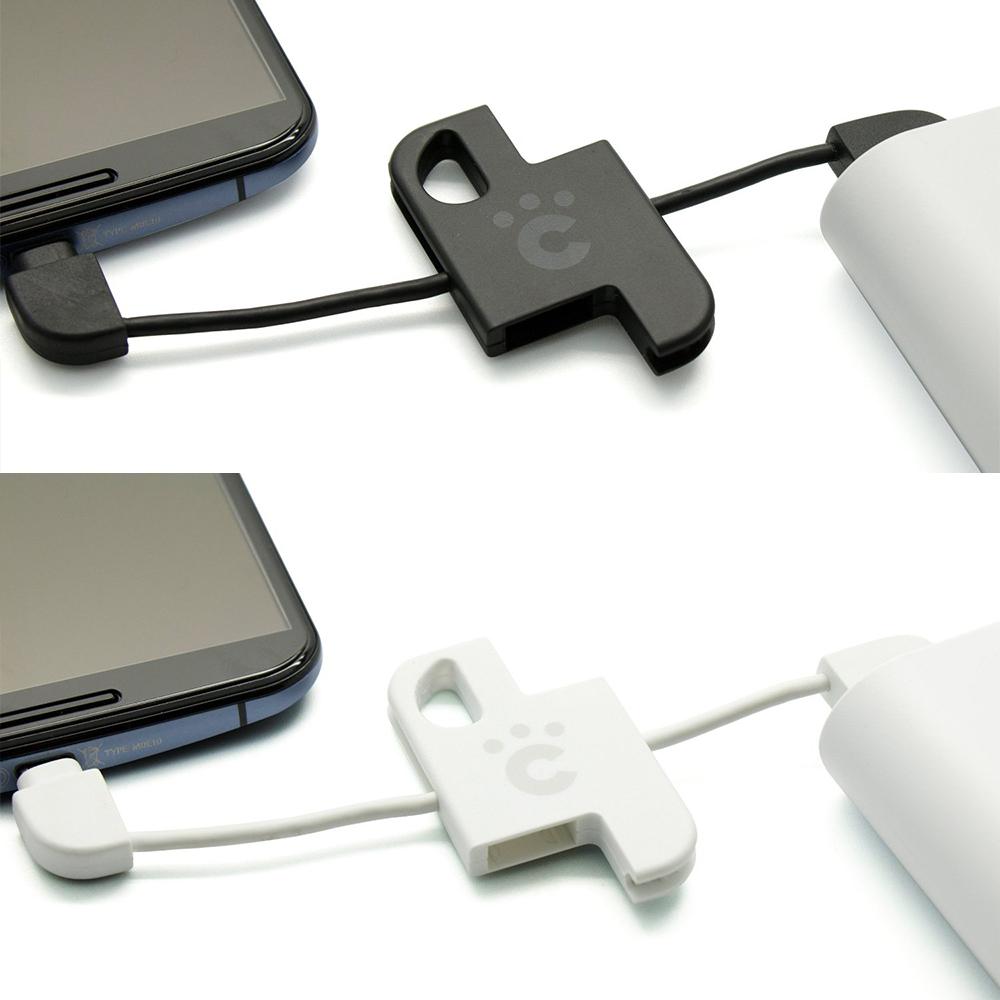 日本cheero 輕巧收納Plate Micro USB充電傳輸線