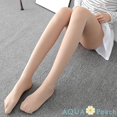 純色天鵝絨修身褲襪-共二色-AQUA-Peach