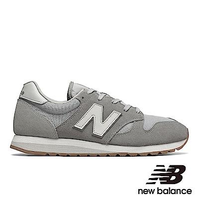 NEW BALANCE復古運動鞋-男/女U520AF麂皮黑灰色