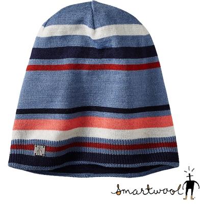 【美國 SmartWool】Nokoni Slouch 美麗諾羊毛針織帽_藍