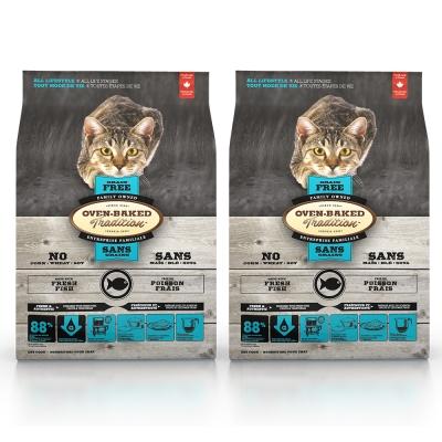 Oven-Backed 烘焙客 全貓 無榖低敏系列 深海魚肉配方-10lbs X2包