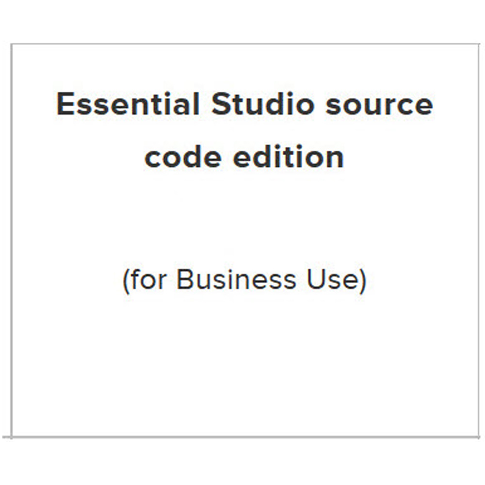 Essential Studio Enterprise(source code)單機下載版