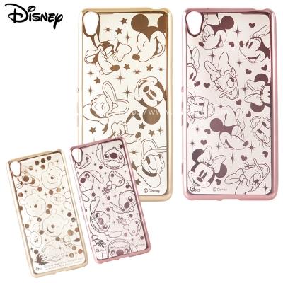 Disney迪士尼SONY Xperia XA時尚質感電鍍保護套-亂花系列