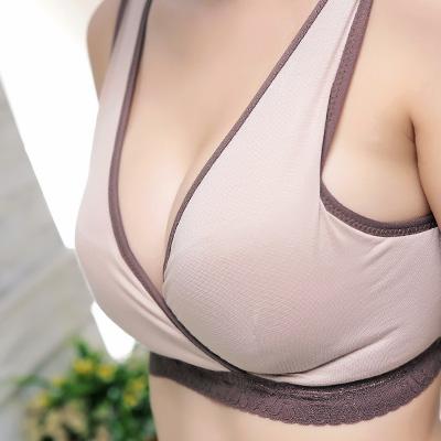 【ThreeShape】天然透氣材質.前交叉式孕期哺乳內衣 32-38