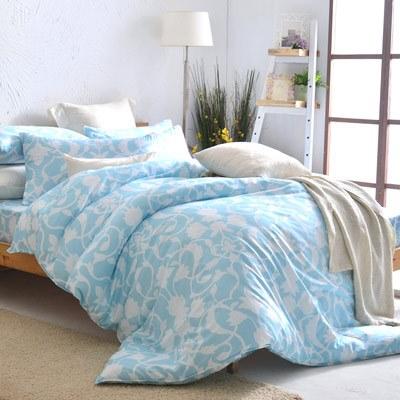 美夢元素 天鵝絨單人三件式 全鋪棉兩用被床包組-發現愛