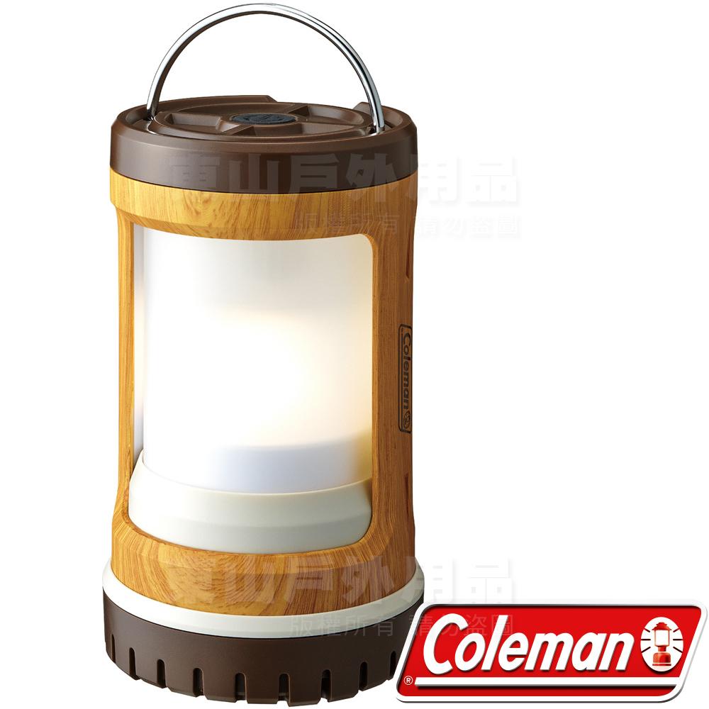 Coleman CM-31277天然木紋 Batterylock USB可充電營燈