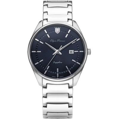 奧柏表 Olym Pianus 都會光采石英腕錶-深藍   5698MS