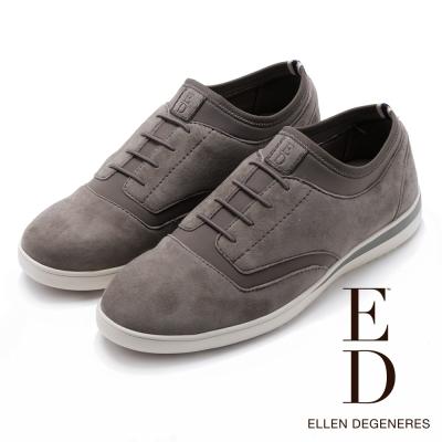 ED Ellen DeGeneres 麂皮牛津彈力休閒鞋-絨灰