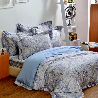 法國CASA BELLE 亞緹索菲 加大四件式長絨棉天絲舖棉兩用被床包組