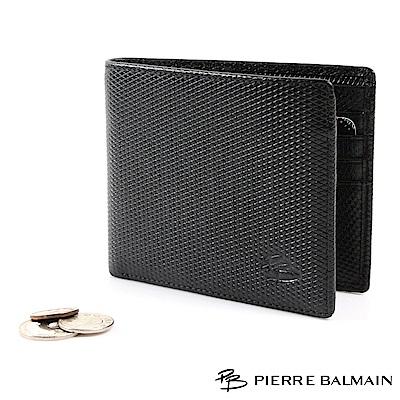 PB皮爾帕門-菱格紋頭層牛皮真皮-短夾-12卡2夾