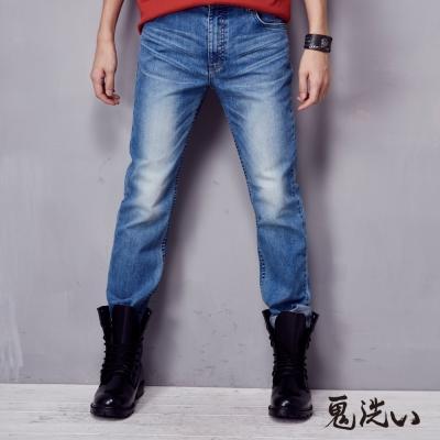 鬼洗-BLUE-WAY-COOL-MAX中腰直筒褲