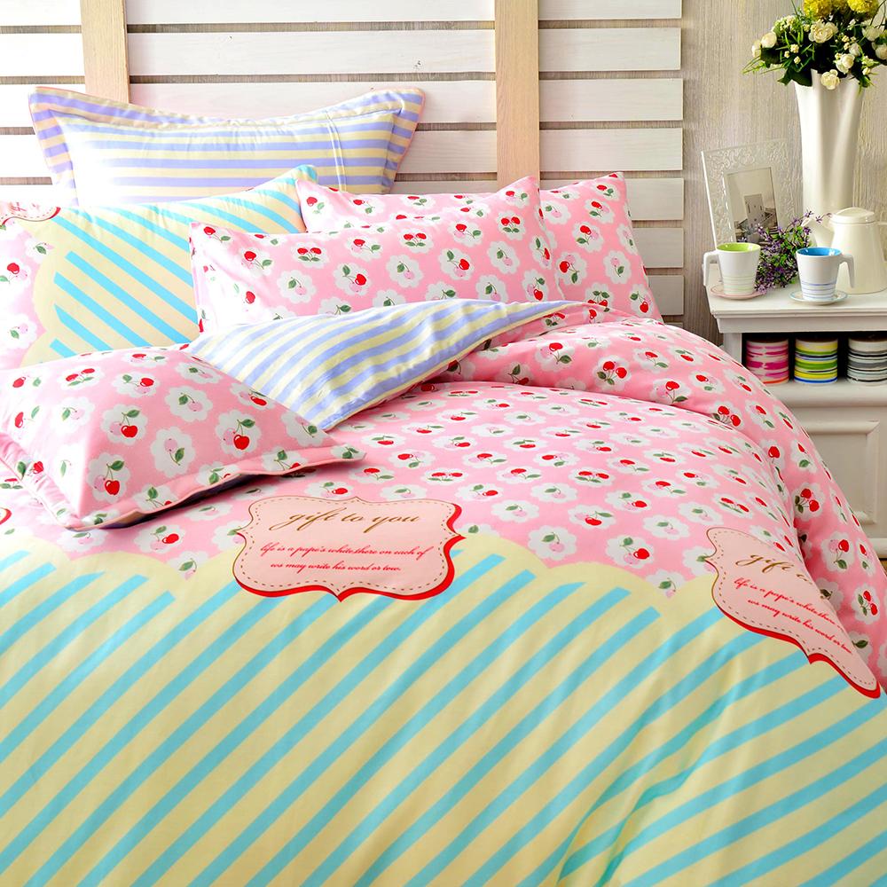 (活動)GL  珍藏甜美 精梳純棉加大兩用被床包四件組