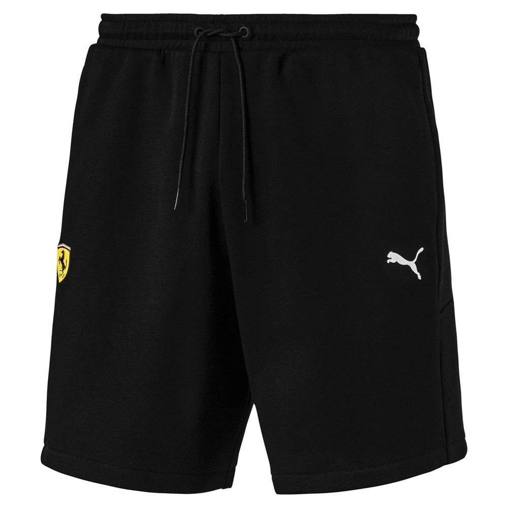 PUMA-男性法拉利車迷系列棉質短褲-黑色-歐規
