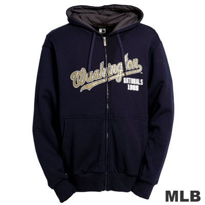 MLB-華盛頓國民隊厚棉連帽外套-深藍(男)